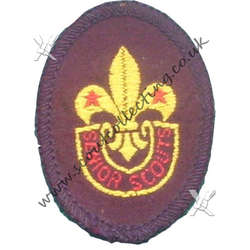 Senior Scout Hat Badge 1957 to 1964