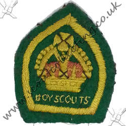 King Scout Felt Named 1928 to 1929 1st